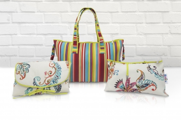 Belily-World Rainbow Shopper Bag - Wickeltasche Set
