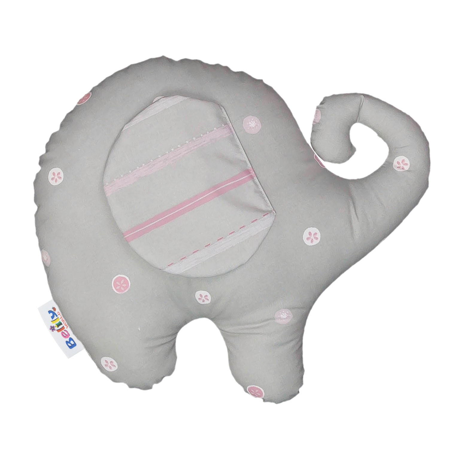 Cuddly Elephant Pillow Label For Diaper Bags Nursing